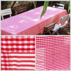 Nappe patchwork kramas rouges